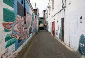 Location Scouting services in Northern Ontario: a graffiti alley
